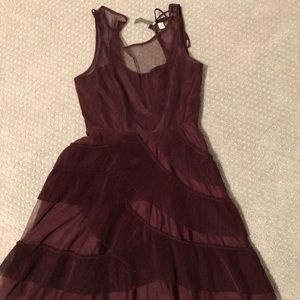 Burgundy color dress. Size 2